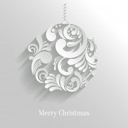 Link toPaper floral white christmas backgrounds vector 02