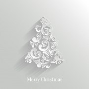 Link toPaper floral white christmas backgrounds vector 03