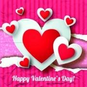 Link toPaper heart valentine day vector background 04