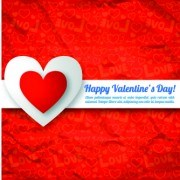 Link toPaper heart valentine day vector background 05