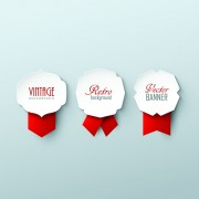 Link toPaper labels and red ribbon vector 01 free