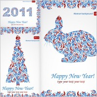 Link toParticular pattern and happy new year 2011 christmas vector