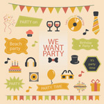 Link toParty decoration elements vector
