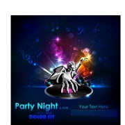 Link toParty night flyer background vector 03