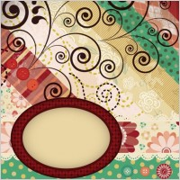 Link toPatchwork pattern background 02 vector