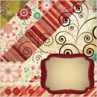 Link toPatchwork pattern background 03 vector