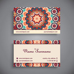 Pattern business cards vectors