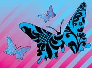 Pattern butterflies vector free