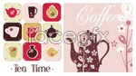 Link toPattern coffee pot teapot vector