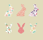 Link toPattern hare and avatar vector