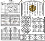 Link tovector wall the of gates iron -pattern