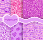 Link toPattern love backgrounds vector