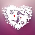 Link toPattern love couple birds vector
