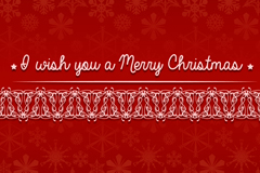 Link toPattern snowflake red christmas background vector