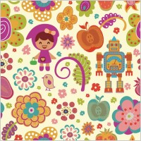 Link toPattern vector cute cartoon flowers