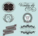Link toPattern wedding labels vector
