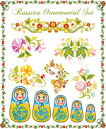 Link toPattern with russia doll vector