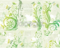 Link tovector butterfly Patterned