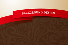 Link toPatterned ribbon background vector