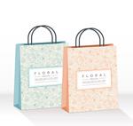 Link toPatterned shopping bag vector