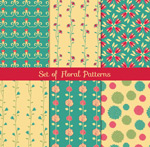 Link toPatterns and floral backgrounds vector