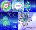 Patterns colorful background vector