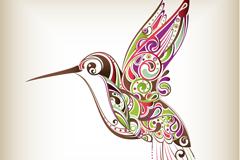 Link toPatterns hummingbird vector