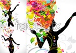 Link toPatterns of female silhouette vector