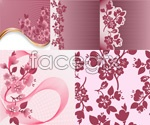 Link toPeach blossoms dotted background vector