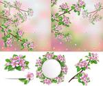 Link toPeach flower background vector