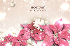 Link toPearl flower holiday background vector