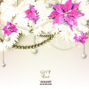 Link toPearls with flowers holiday background vector 04