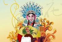 Peking opera actress china wind vector