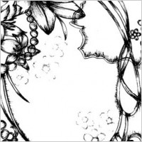 Link toPen drawing style flower border clip art