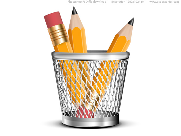 Link toPencils in a pencil holder, psd icon
