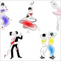 Link toPeople dancing silhouette 02 vector