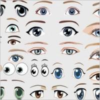 Link toPeople eyes free vector