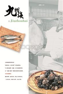 Link toPeople fish seafood baskets pop posters advertising templates psd