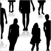 Link toPeople silhouettes free vector