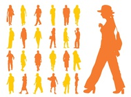 Link toPeople silhouettes set vector free
