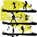 Link toPeople silhouettes vector 2