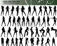 Link toPeople silhouettes vector design