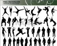 Link toPeople silhouettes vector designs