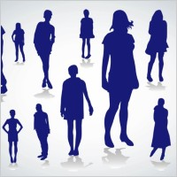 Link toPeople silhouettes vectors
