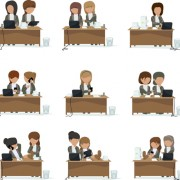 Link toPeople work at the desk vector 01 free