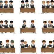 Link toPeople work at the desk vector 03 free