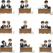 Link toPeople work at the desk vector 04 free