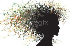 Link toPersonalized hair lace vector