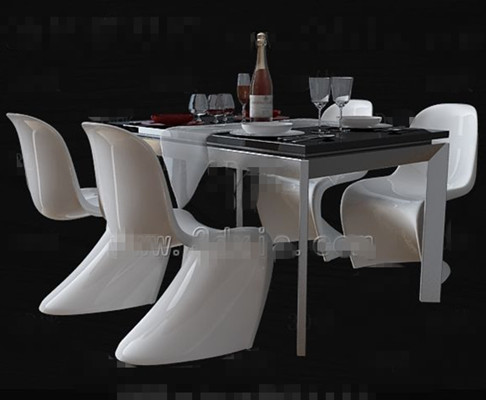 Link toPersonalized white dinette combination 3d model