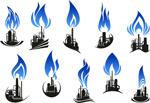 Petroleum refining industry logo vector